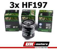 3x HIFLO FILTRO ACEITE HF197 Hyosung Ms3 125 I