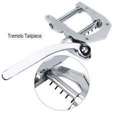 Vintage Guitar Vibrato Tremolo Bridge Tailpiece Supply Replacement Silver LP BT