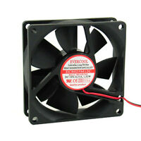 Evercool EC8025M12CA 80x80x25 mm 12v Ball Bearing Cooling Fan 80mm 3 Pin wire