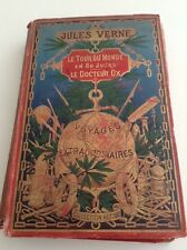 Le Tour Du Monde En 80 Jours Le Docteur Ox by Jules Verne (collection Hetzel)