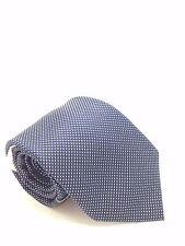 $125 TOMMY HILFIGER Men`s SKINNY NECK TIE WHITE BLUE CHECK DOT NECKTIE 62X3.25