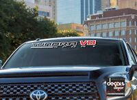 WINDSHIELD DECAL FITS TOYOTA TRD TUNDRA 4X4 SPORT V8 OFFROAD PLATINUM 5.7L ETC.
