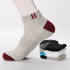 1/5 Pairs Summer Men Low Cut Ankle Socks Crew Sports Casual Cotton Socks Soft