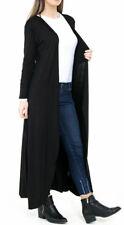 New Women Ladies Long Sleeve Maxi Boyfriend Cardigan Open Floaty Long Cardigan