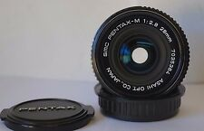 SMC PENTAX-M 28 mm F2.8 K/PK mount Wide Angle Manuel Premier objectif