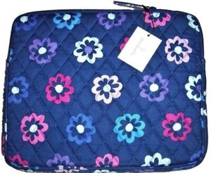Vera Bradley Elllie Flowers Tablet Sleeve Blue Apple iPad Samsung Tab NEW!