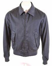 WOOLRICH Mens Harrington Jacket Size 44 XL Black Cotton  MG18