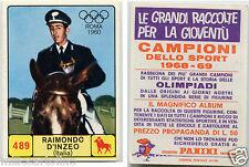 FIGURINA PANINI, CAMPIONI SPORT 1968-69, OLIMPIADE 1960, RAIMONDO D'INZEO     m