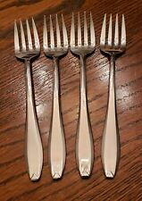 Robenson Continental Stainless Steel Flatware BRIGHT DAWN 4 Salad Forks GERMANY
