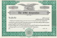 CBC CORPORATION CHICAGO BASEBALL CLUB WHITE SOX CERTIFICATE VERY RARE