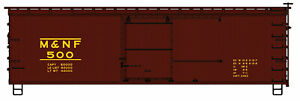 Accurail (HO) #1409 MOREHEAD & NF 36' Double Sheathed Wood Boxcar #500 - KIT
