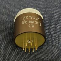 Amptata 6SN7 L7 To ECC83 82 81 12AX7 U7 T7 Vacuum Tube Adapter Pre Amp Guitar 6V