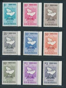 "VENEZUELA 1953, Mi. 898-906 **/MNH, ""Delta Amacuro"", airmails, very fresh"