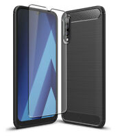 Carbon Case for Samsung Galaxy A70 Front Back 360 Cover Glass Screen Protector