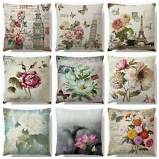 Retro Flower Pattern Pillow Cushion Cover Plant Home Decor para Vintage Modern