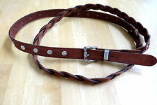 VINTAGE MAX MARA SAKS 5TH AVE ITALIAN LEATHER BROWN DOUBLE WRAP BELT SIZE M