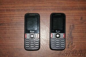 Lot of 2 Used & Untested AT&T Huawei U2800 Black Phone For Parts & Repairs Only