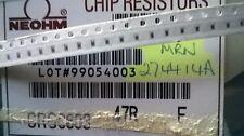 Partial Reel 4200pcs+ Neohm CRG  0603 47R 1% 100ppm SMD Metal Film Resistors
