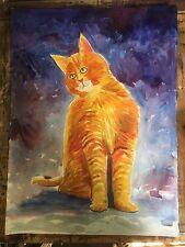 "Morris the Cat John Kilduff Watercolor 30"" x  22"""