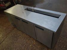 3 door stainless topping fridge