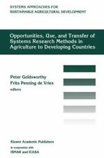 Opportunities, Use, and Transfer of Systems Research Methods in Agriculture...