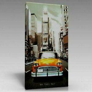 New York Taxi Wandbild auf Keilramen bepannt A05875 Leinwandbild quadratisch