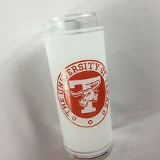 The University Of Texas Frosted Glass VTG Cup Longhorns Student Alumni Grad Gift