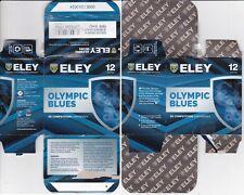 1270) ELEY OLYMPIC BLUES FIBRE 12g 70mm 28gr No 8  EMPTY SHOTSHELL BOX