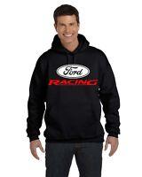 Ford Racing Hoodie Sweatshirt Built Tough Mustang JDM Mechanic Hooded Sweatshirt