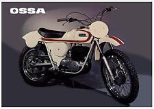 OSSA Poster Stiletto 250 & 175 1971 1972 VMX Suitable to Frame White
