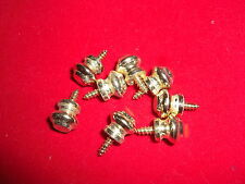 Bright Brass Bun Style Screw In Box Feet - Package of 8