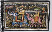 Parete Pittura Mughal Su Seta Arte Scena Di Vita India 74x47cm 23