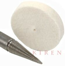 "3pcs MINI FELT WHEEL BUFF Flint HARD 1 1/4"" x 1/4 PIN HOLE POLISHING BUFFING USA"