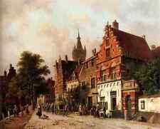 Eversen Adrianus A View In Delft A4 Print