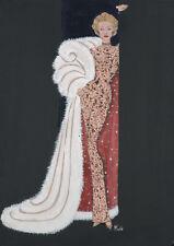 Hollywood Diva Marlene Dietrich art print glamourous