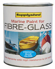 SUPPLYSHED Marine Boat Gloss FRENCH BLUE Paint for Fibreglass and GRP 750ml