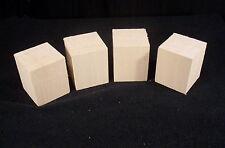 "4 Piece Kiln Dry Basswood Carving Turning Lumber Blanks 2.5x2.5x3"""