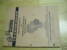 CLARK TRANSMISSION 28000 SERIES BRAKE SERVICE MANUAL