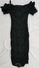 Vintage Scarlett Nite Over the Shoulder  Black Dress