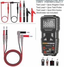 Multimeter Test Leads Kit With Crocodile Clips Alligator Clips Needle Probe Us