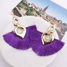 Fashion Women Bohemia Earrings Long Tassel Fringe Boho Stud Drop Dangle Earrings