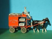 LESNEY PRE MOKO VINTAGE 1948 DIECAST HORSE DRAWN MILK FLOAT RARE SET