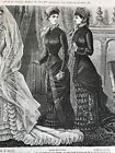 MODE ILLUSTREE SEWING PATTERN Aug 8,1880 - GARDENING APRON, TRAVELLING DRESS
