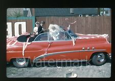1950s 35mm Photo slide Convertible Buick Super car #4 wedding  Just Married