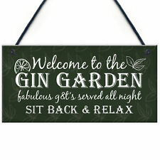 Gin Signs Garden Shed Bar Pub Plaque Gin & Tonic Alcohol Sign Party FRIEND Gift