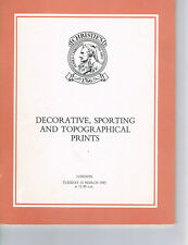 Christies - Decorative, Sporting & Topographical Prints  March 15, 1983