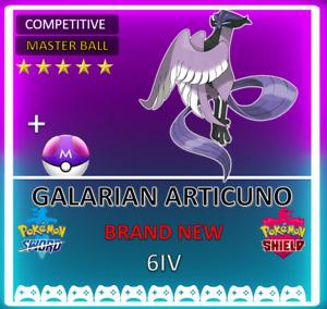 Pokemon Sword & Shield GALARIAN ARTICUNO! 6IV! BRAND NEW! CROWN TUNDRA DLC