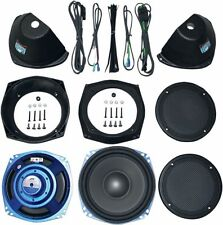 J&M Rokker XT Dual 7.25 Saddlebag Speakers Sub-Woofer Speaker Kit Harley Touring