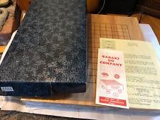 Vintage Japanese Go Wooden Board Sabaki Go In Box