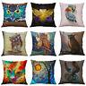 Cushion Printing Cover Pillow Home Sofa Owl case Decor For Linen Cotton Animal